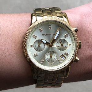 Michael Kors Gold Tone Women's Watch Used